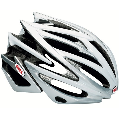 Bell Volt Helm, silver-white, L 59-63cm