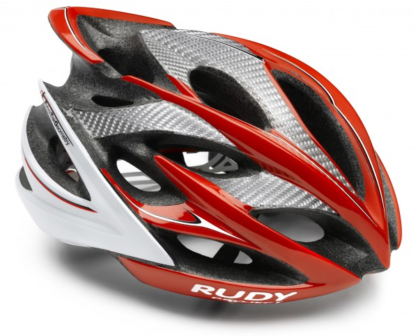 Rudy Project Windmax Helm; red-white-black shiny; S/M 54-58