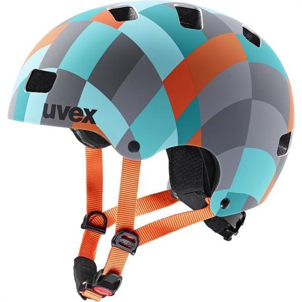 Uvex kid 3 cc Helm green checkered 51-55