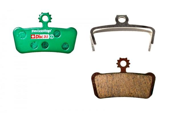 Swissstop Disc 31 Organic Bremsbeläge für SRAM Guide/Avid Trail