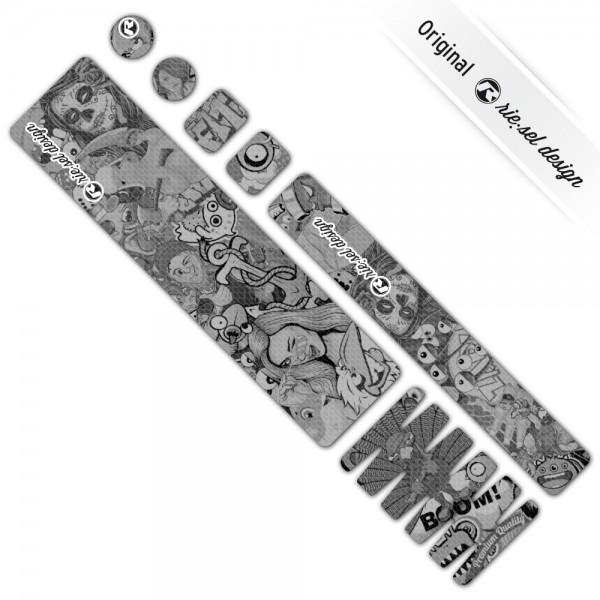 rie:sel design Rahmenschutzfolie frameguard X Stickerbomb ultra black