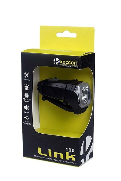 Xeccon Link 100 USB-LED Vorderlicht 100 Lumen mit Klingelfunktion
