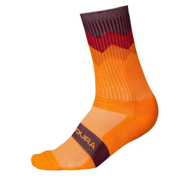 Endura Zacken Socken Mandarine