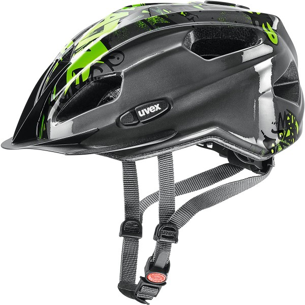 Uvex Quatro Junior Helm anthracite-green 50-55 cm