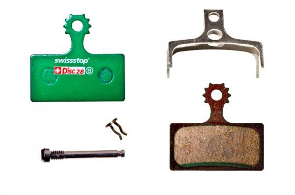 Swissstop Disc 28 Organic Bremsbeläge für Shimano XTR/XT/SLX
