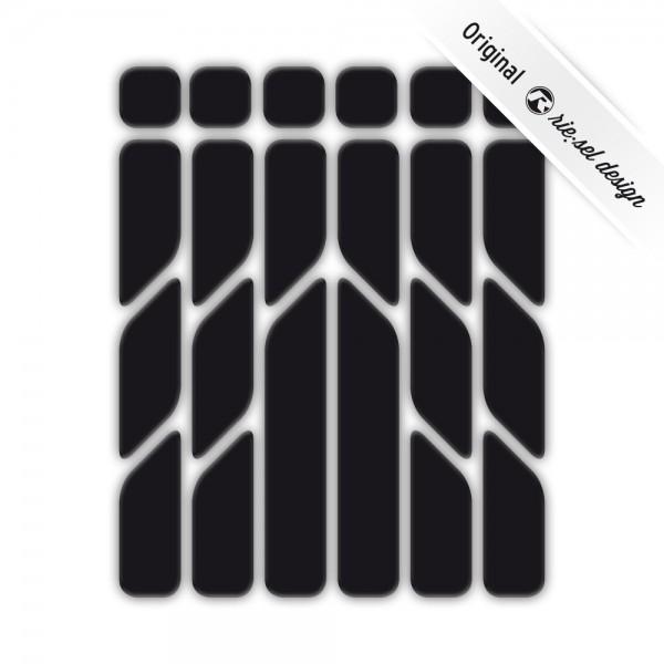 rie:sel design Reflektive Sticker re:flex black