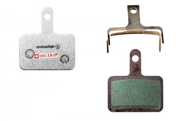 Swissstop Disc 15 E Bremsbeläge für Shimano/TRP/Tektro/Quad