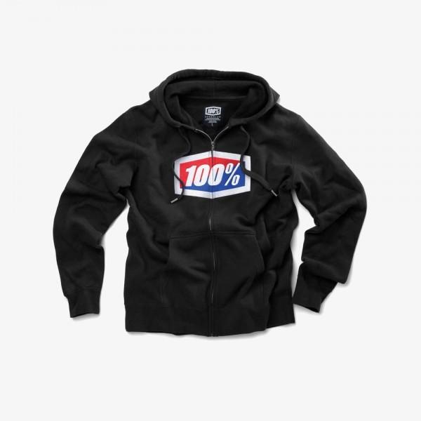100% Official Full-Zip Hoody black