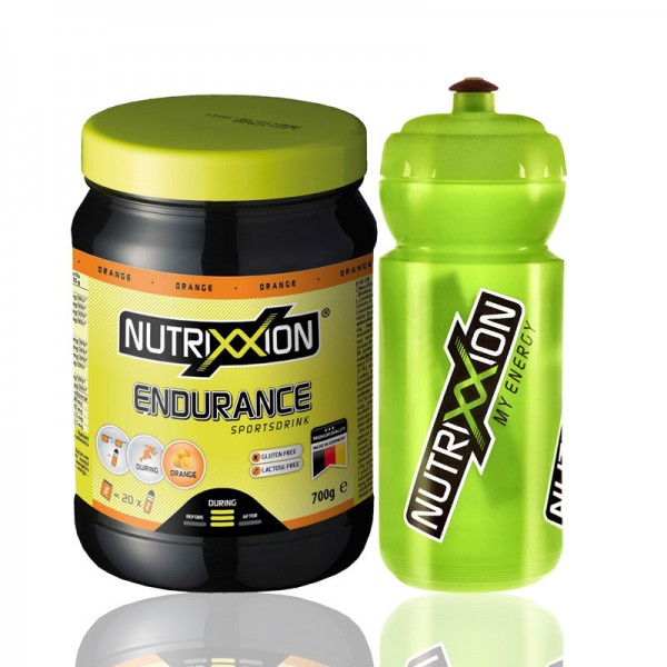 Nutrixxion Endurance Drink Orange inkl. Trinkflasche 700g